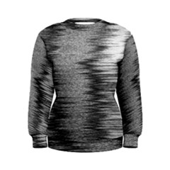 Rectangle Abstract Background Black And White In Rectangle Shape Women s Sweatshirt by Nexatart