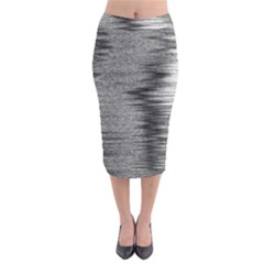Rectangle Abstract Background Black And White In Rectangle Shape Midi Pencil Skirt by Nexatart