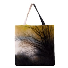 Tree Art Artistic Abstract Background Grocery Tote Bag by Nexatart