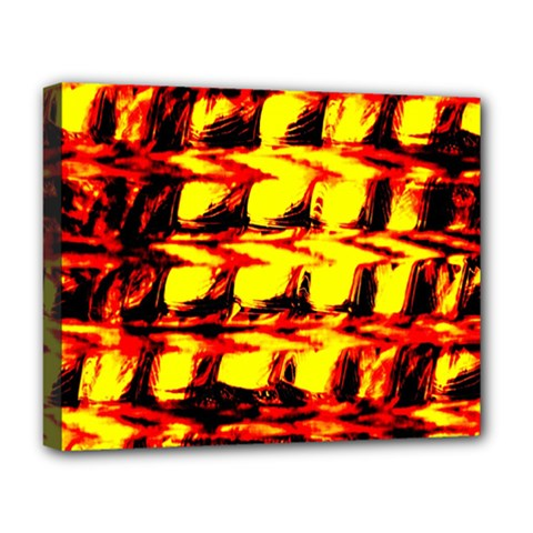 Yellow Seamless Abstract Brick Background Deluxe Canvas 20  X 16   by Nexatart