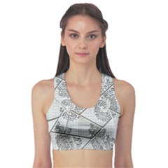 The Abstract Design On The Xuzhou Art Museum Sports Bra by Nexatart