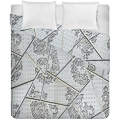The Abstract Design On The Xuzhou Art Museum Duvet Cover Double Side (california King Size) by Nexatart