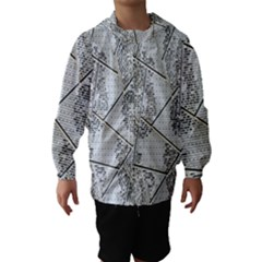 The Abstract Design On The Xuzhou Art Museum Hooded Wind Breaker (kids) by Nexatart