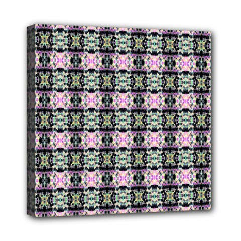Colorful Pixelation Repeat Pattern Mini Canvas 8  X 8  by Nexatart