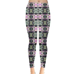 Colorful Pixelation Repeat Pattern Leggings  by Nexatart