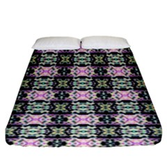 Colorful Pixelation Repeat Pattern Fitted Sheet (king Size) by Nexatart