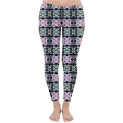 Colorful Pixelation Repeat Pattern Classic Winter Leggings by Nexatart