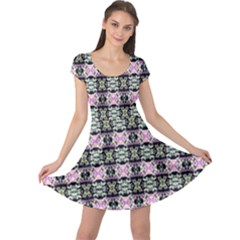 Colorful Pixelation Repeat Pattern Cap Sleeve Dresses by Nexatart