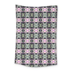 Colorful Pixelation Repeat Pattern Small Tapestry by Nexatart