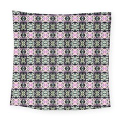 Colorful Pixelation Repeat Pattern Square Tapestry (large) by Nexatart