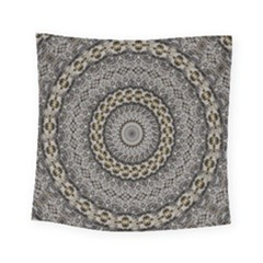 Celestial Pinwheel Of Pattern Texture And Abstract Shapes N Brown Square Tapestry (small) by Nexatart