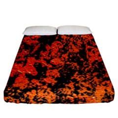 Abstract Orange Background Fitted Sheet (california King Size) by Nexatart