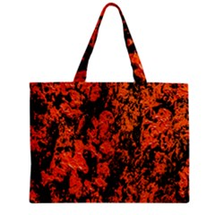 Abstract Orange Background Zipper Mini Tote Bag by Nexatart