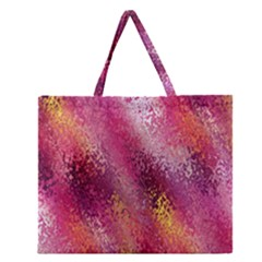 Red Seamless Abstract Background Zipper Large Tote Bag