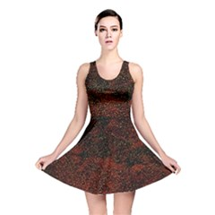 Olive Seamless Abstract Background Reversible Skater Dress