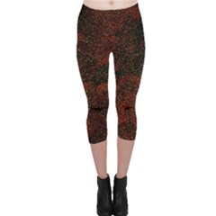 Olive Seamless Abstract Background Capri Leggings