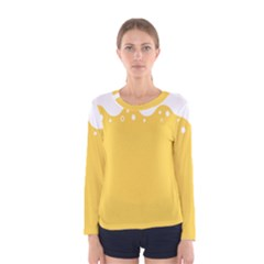Beer Foam Yellow White Women s Long Sleeve Tee by Mariart