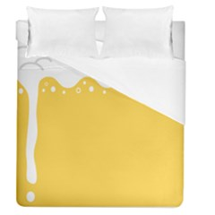Beer Foam Yellow White Duvet Cover (queen Size) by Mariart