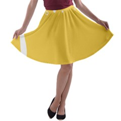Beer Foam Yellow White A-line Skater Skirt by Mariart