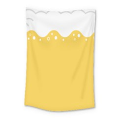Beer Foam Yellow White Small Tapestry by Mariart