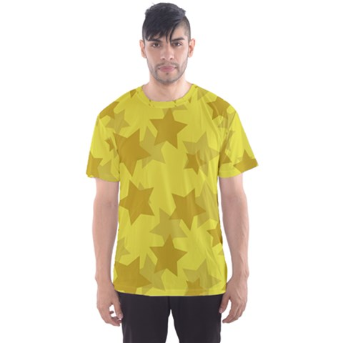 Yellow Star Men s Sport Mesh Tee by Mariart