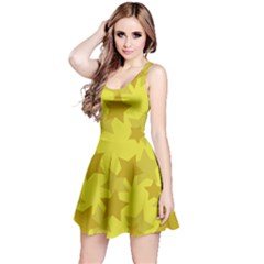 Yellow Star Reversible Sleeveless Dress by Mariart
