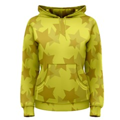 Yellow Star Women s Pullover Hoodie by Mariart