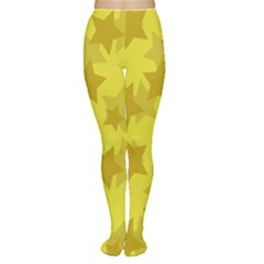 Yellow Star Women s Tights by Mariart