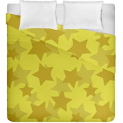 Yellow Star Duvet Cover Double Side (king Size) by Mariart