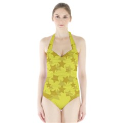 Yellow Star Halter Swimsuit by Mariart