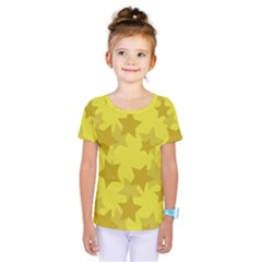 Yellow Star Kids  One Piece Tee by Mariart