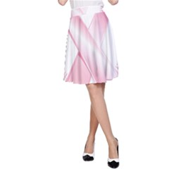 Breast Cancer Ribbon Pink Girl Women A Line Skirt by Mariart
