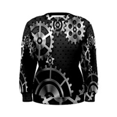 Chain Iron Polka Dot Black Silver Women s Sweatshirt by Mariart
