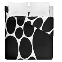 Dalmatian Black Spot Stone Duvet Cover Double Side (queen Size) by Mariart