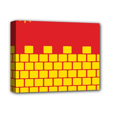 Firewall Bridge Signal Yellow Red Deluxe Canvas 14  X 11  by Mariart