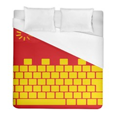 Firewall Bridge Signal Yellow Red Duvet Cover (full/ Double Size) by Mariart