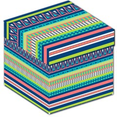 Aztec Triangle Chevron Wave Plaid Circle Color Rainbow Storage Stool 12   by Mariart