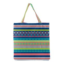 Aztec Triangle Chevron Wave Plaid Circle Color Rainbow Grocery Tote Bag by Mariart