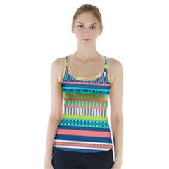 Aztec Triangle Chevron Wave Plaid Circle Color Rainbow Racer Back Sports Top by Mariart