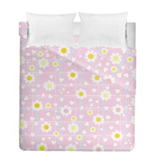 Flower Floral Sunflower Pink Yellow Duvet Cover Double Side (full/ Double Size) by Mariart