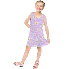 Flower Floral Sunflower Pink Yellow Kids  Tunic Dress by Mariart