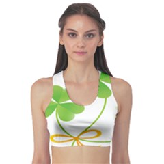 Flower Floralleaf Green Reboon Sports Bra by Mariart