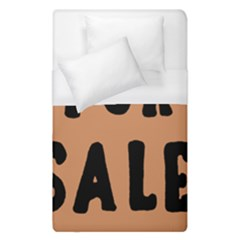 For Sale Sign Black Brown Duvet Cover (single Size) by Mariart