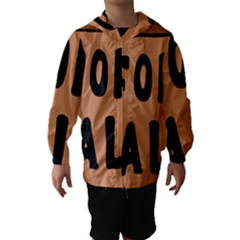 For Sale Sign Black Brown Hooded Wind Breaker (kids) by Mariart