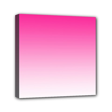 Gradients Pink White Mini Canvas 6  X 6