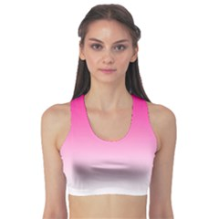 Gradients Pink White Sports Bra by Mariart