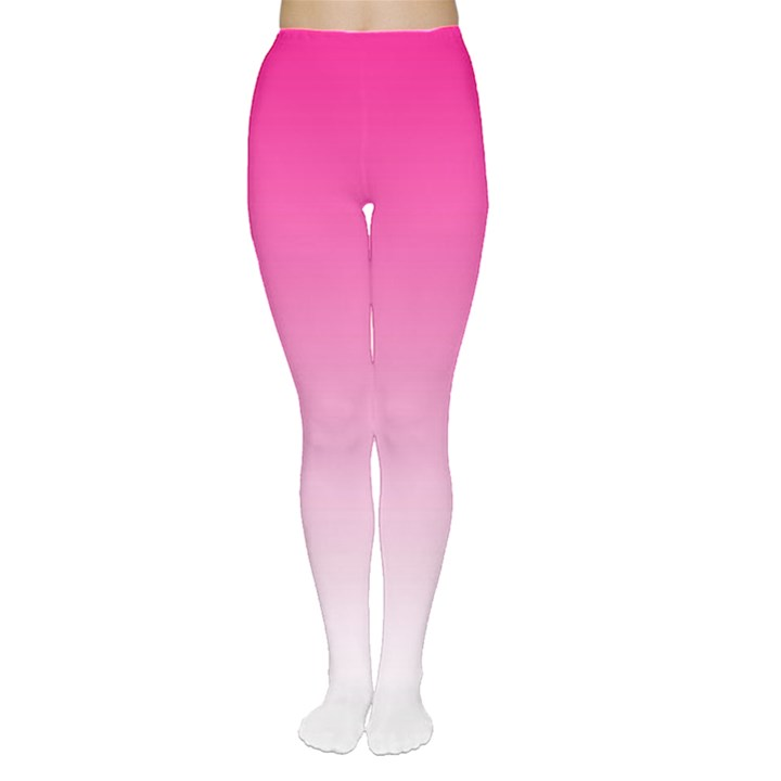 Gradients Pink White Women s Tights