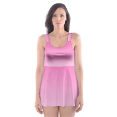 Gradients Pink White Skater Dress Swimsuit by Mariart