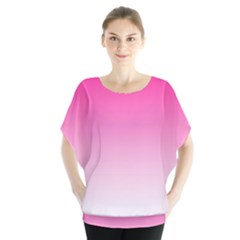 Gradients Pink White Blouse
