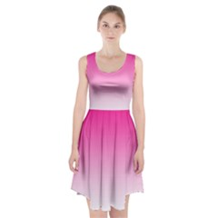 Gradients Pink White Racerback Midi Dress by Mariart